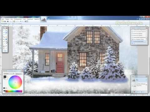 Используем эффект Тень для новогодних коллажей в Paint.net