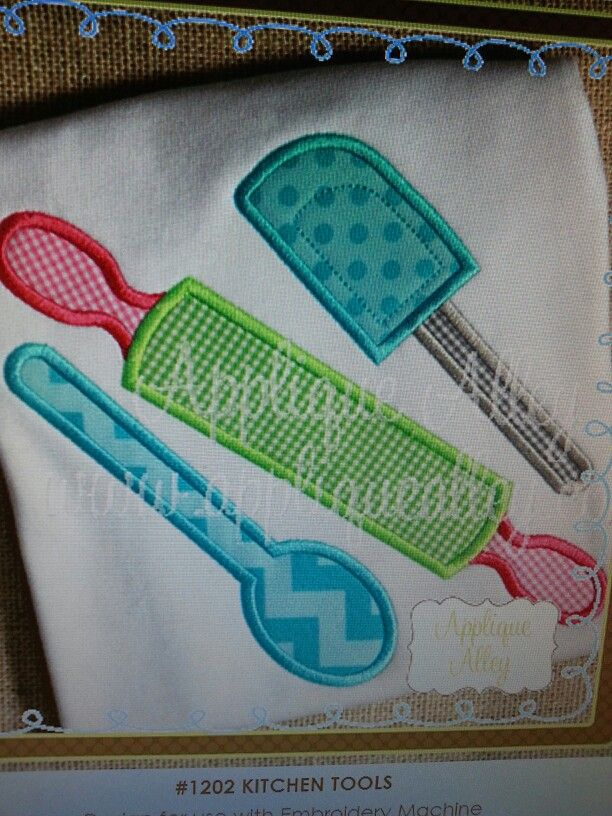 Cute For A Kitchen Towel Applique Embroidery Designs Pinterest