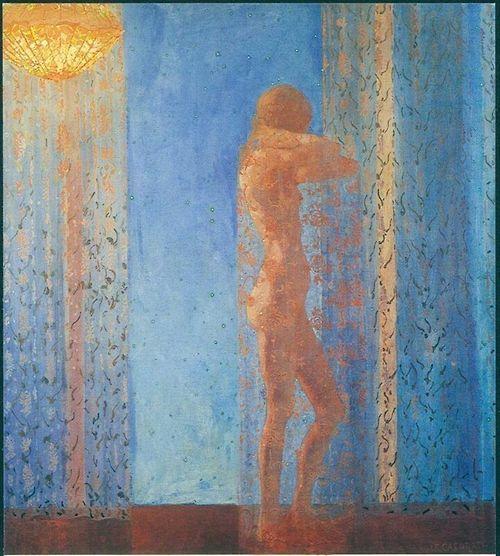 Felice Casorati (Italian, 1883-1963) - Nocturne, 1912