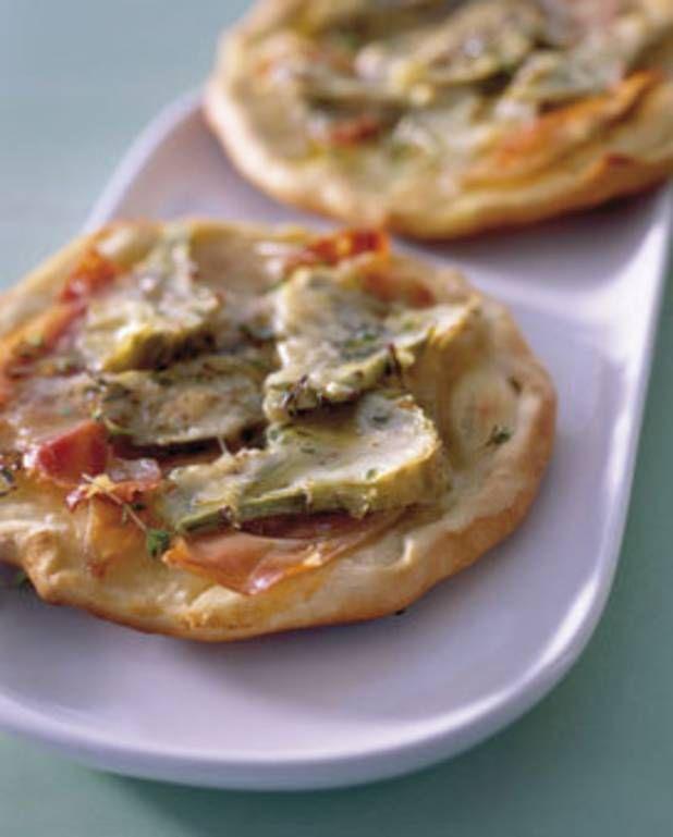 Pizza artichauts-jambon san daniele pour 4 personnes - Recettes Elle à Table