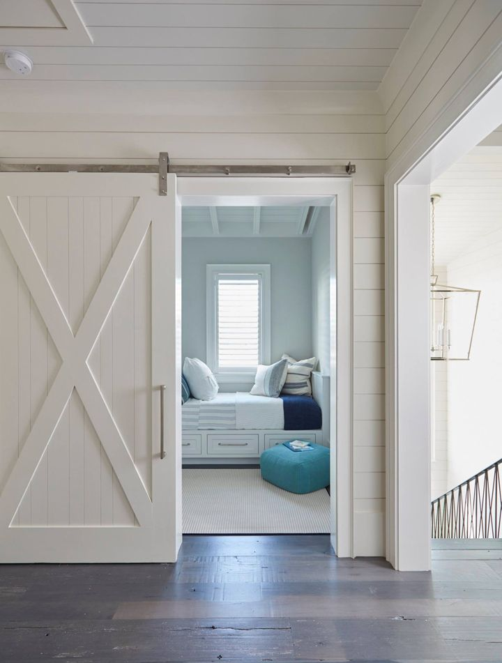 sliding barn door + shiplap | Geoff Chick & Associates