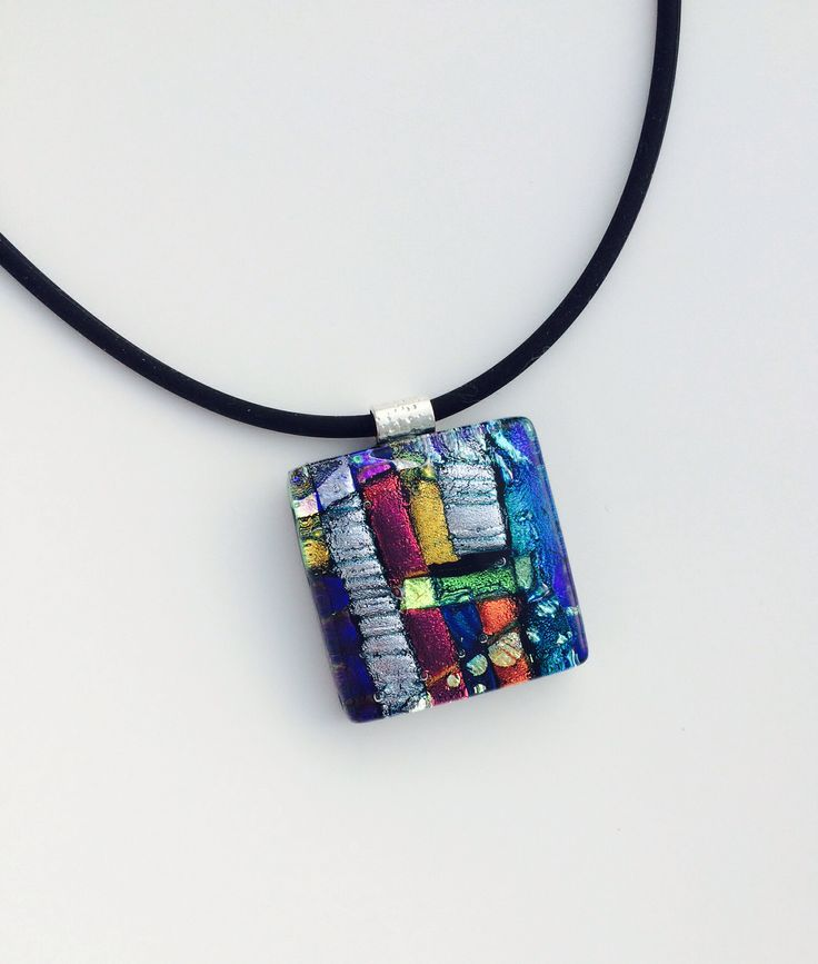 New Dichroic Glass necklaces.