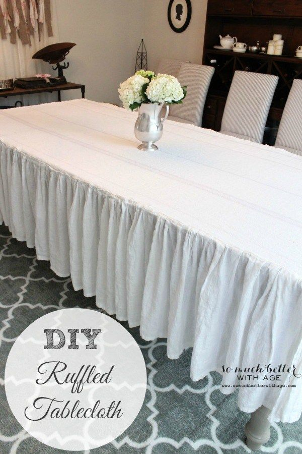 How To Make A Ruffled Tablecloth {Trash To Treasure Series} | So Much Better With Age