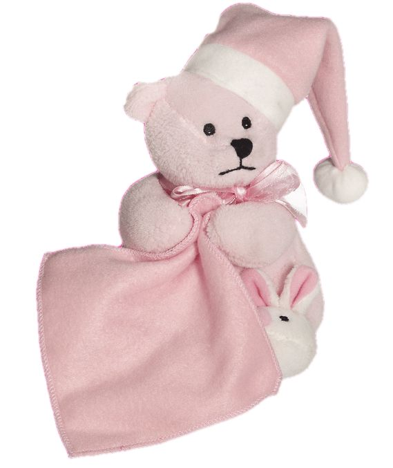 Need something to comfort an upset child, maybe a blankie might help Enter your child's name. Select the font and colour. Then select up to two additional motifs for decoration. The design will be embroidered onto the blanket section of the bear. http://teddybearsandgifts.com.au/personalised-embroider-buddy-sleepy-head-blankie-pink-bear/