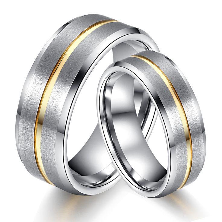 Encontrar Más Alianzas Información acerca de 2 unids 8 MM y 6 MM 18 K oro PlatedTungsten anillo de bodas de carburo Comfort Fit hombres mujeres amante anillo de dedo parejas alianza de la marca de joyería, alta calidad carburo de banda, China anillo de la cámara Proveedores, barato carbid de Soul Men Jewelry en Aliexpress.com