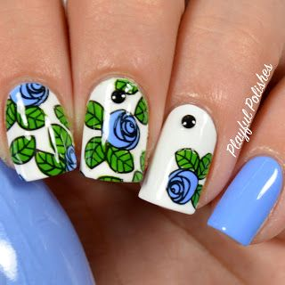 Advanced Floral Nail Stamp, BP73