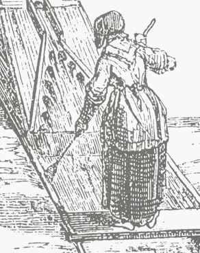 The 18th century bed jacket did not fade into oblivion at the stroke of the clock with the coming of the 19th century. This illustration was published in 1850, and the garment the woman is wearing would be period correct for 18th century wear, or by changing the name by which the garment was known from bed jacket to sack or sacque it remains correct through the 1860's.