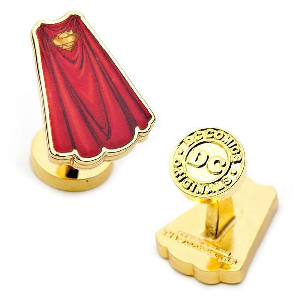 These Superman Cape Cufflinks Will Make You Dapper & Geeky