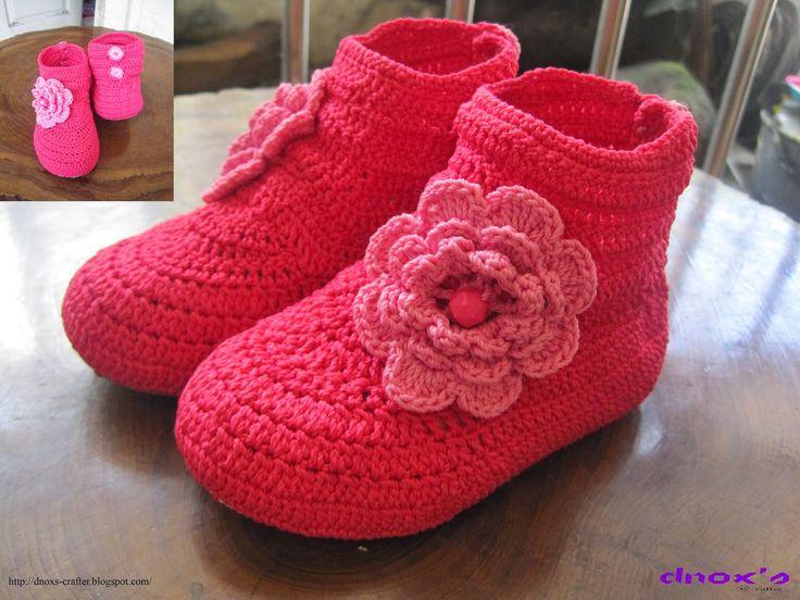 Dnox's Crafter: Koleksi Sepatu Rajut Pesanan Bulan Desember 2014 –...
