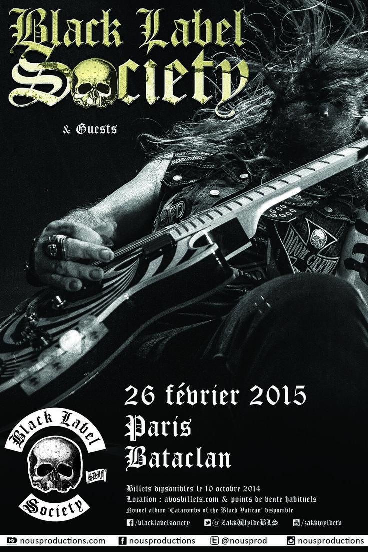 Black Label Society en concert le 26 février 2015 au Bataclan