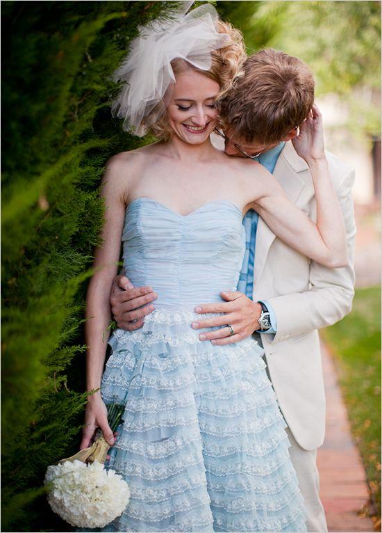 baby blue wedding dress I like the guys