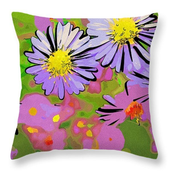 Arts Flowers Throw Pillow  #flowers #art #poster #gifts