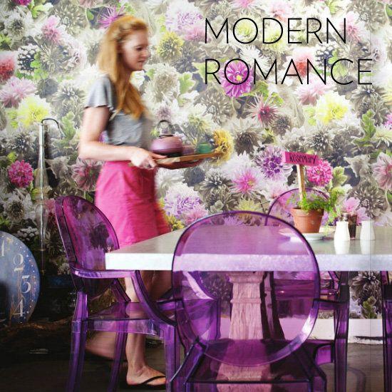 Modern, Romantic, Feminine Rooms