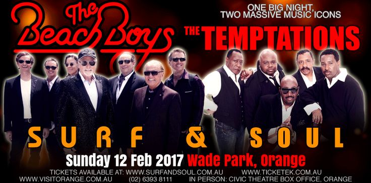Surf and Soul featuring The Beach Boys and The Temptations - The Surf & Soul Tour