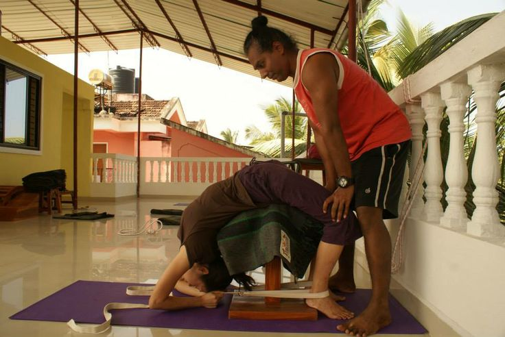 At Abhinam Yoga, we call this Backward Extensions! #Goa #YogaPose