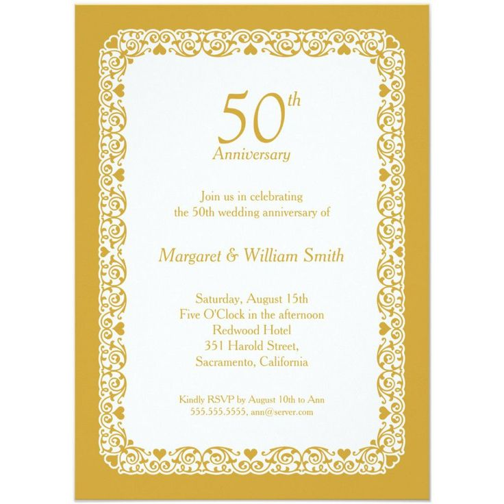 41 Best Wedding Anniversary Invitations Images On Pinterest