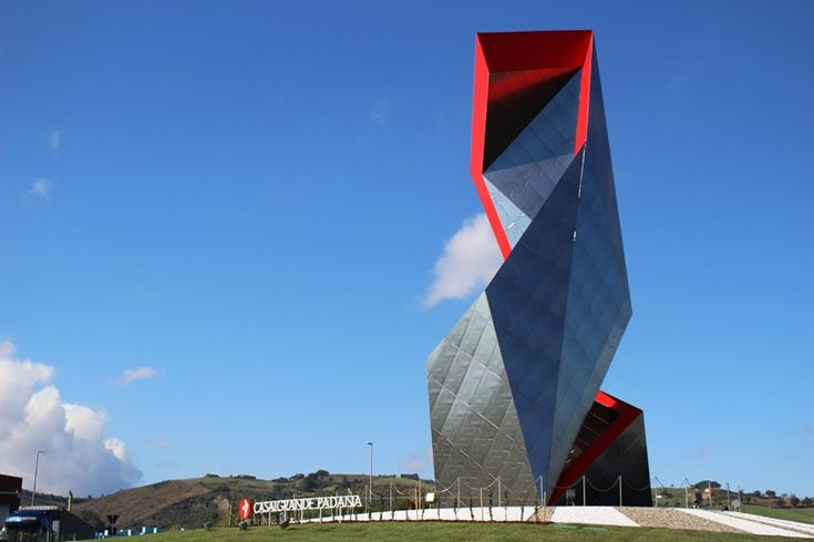 daniel libeskind clads faceted sculpture with casalgrande padana's porcelain stoneware tiles