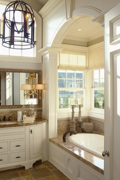 Love the tub, ceiling, windows by antoinette