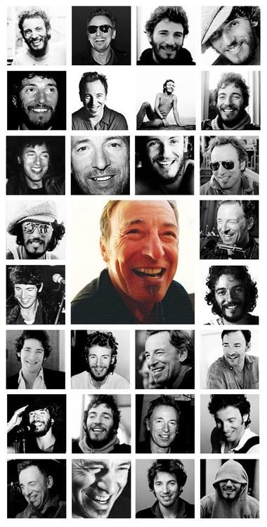 The Many Smiles of Bruce. #springsteen