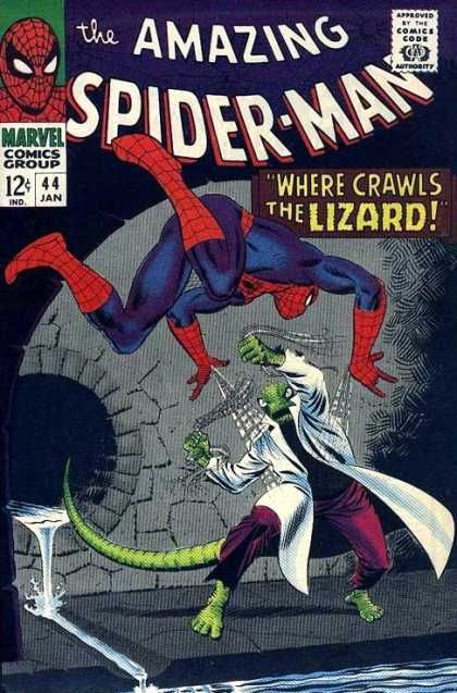 Lizard - Approved By The Comics Code Authority - Marvel Comics Group - 44 Jan - Fight