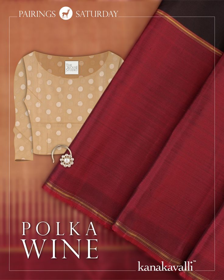 This classic black kanjivaram is paired with an unexpectedly lovely beige blouse length in a blend of silk and cotton. Featuring polka dots in silver that highlight the subtle zari on the red shot black border and pallu, the blouse length has a contemporary playfulness that is in striking contrast to the traditional aesthetic of the drape. The handcrafted nosepin by Ahalya ties the look together #kanjivaram #silk #handloom #india #sari