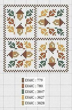Acorn Cross Stitch