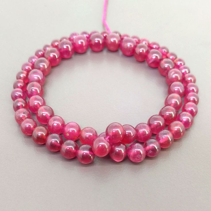 Ruby 5-8mm Smooth Round Shape Bead Strands