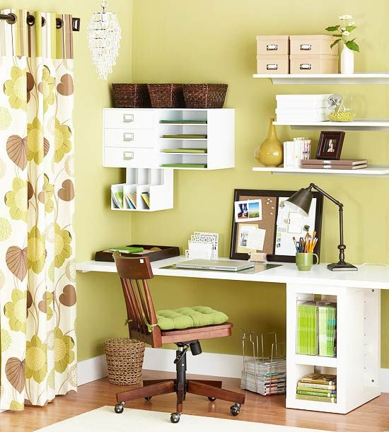 office space:: when there's nowhere to put an office! desk/shelves