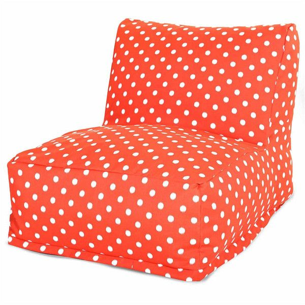 Bean Bag Chair, Orange - Bean Bags > Bean Bag Chairs ($190) ❤ liked on Polyvore featuring home, furniture, chairs, bean-bag chair, orange bean bag, orange furniture, orange bean bag chair and orange chair