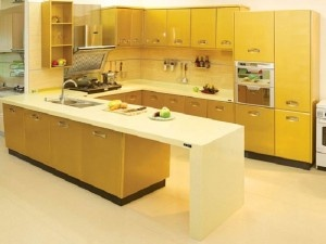 Yellow Kitchen Interior for Beautiful Kitchen Design Ideas 2013 with most beautiful yellow kitchen design ideas images. Stylish kitchen 2013 of yellow theme.