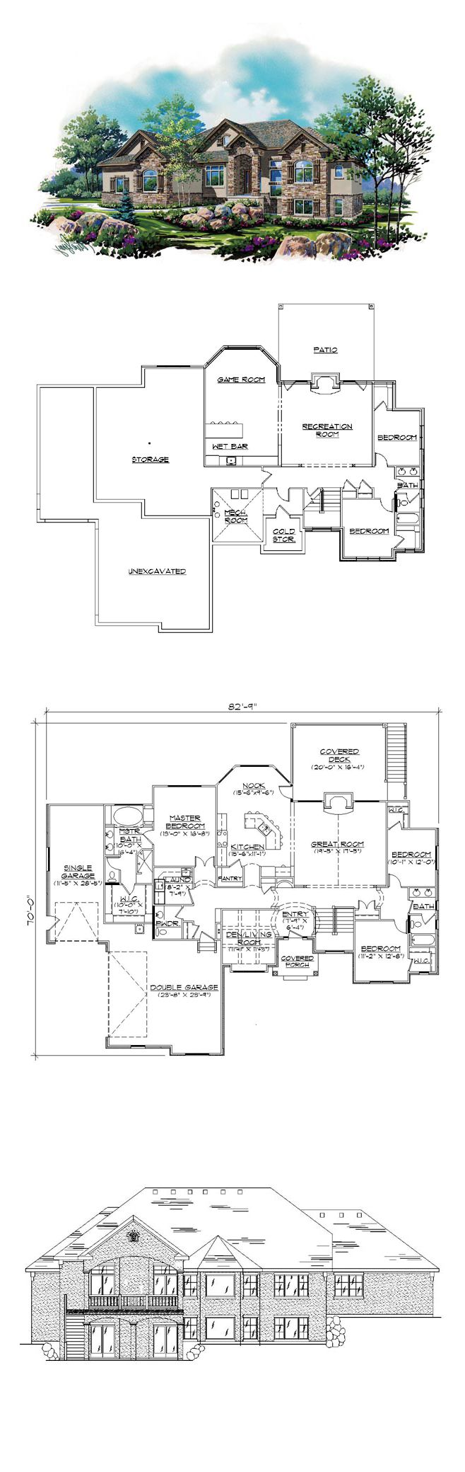 17 best images about house plans with finished basements for 5 bedroom house plans with basement