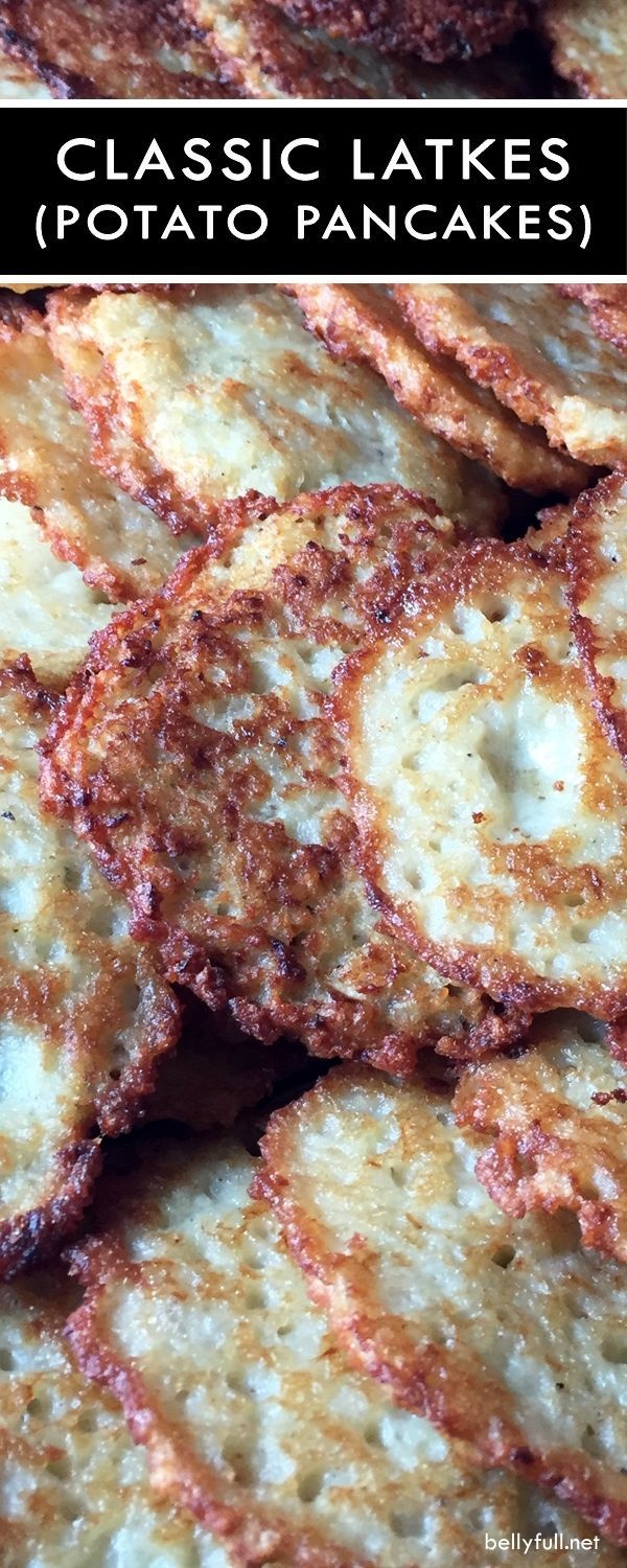 Classic Potato Latkes have a tender inside and crispy exterior. With a few simple ingredients and deep fried, there's nothing quite like them!