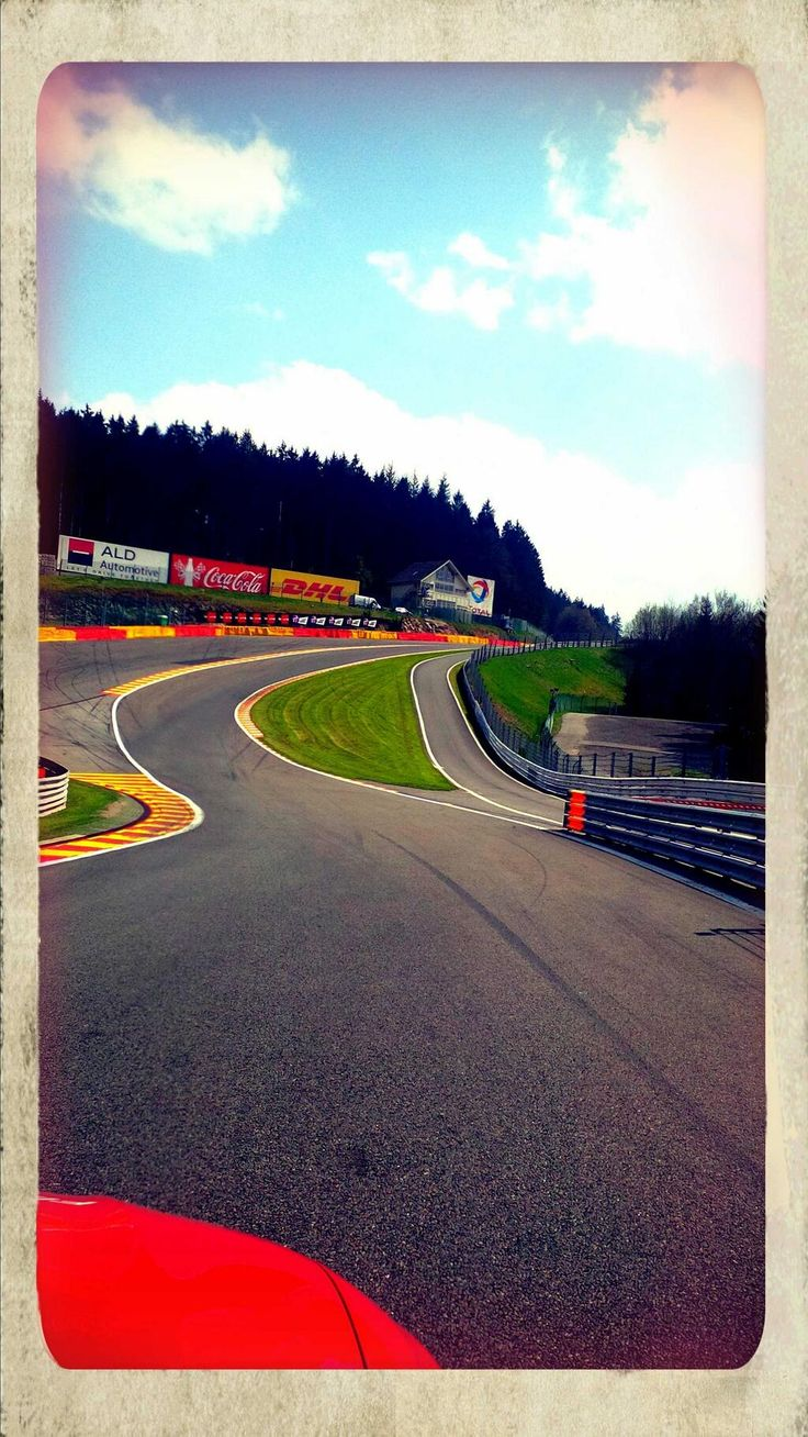Francorchamps, Formula 1 grand prix racing circuit in Belgium, Eau Rouge. #Spa