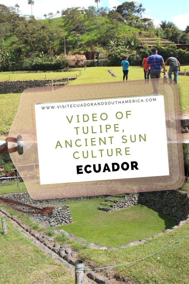 Video of Tulipe, ancient sun culture in Ecuador