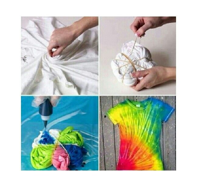 Diy tye dye t shirt