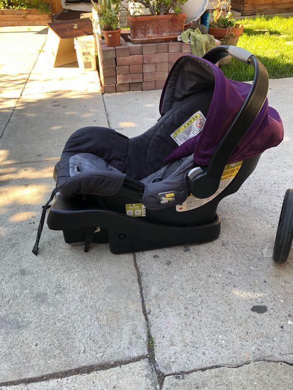 Baby Stroller, Car Seat and Base Eddie Bauer brand Purple
