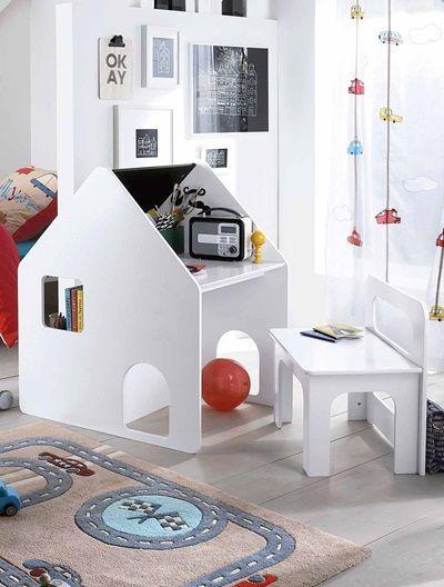 Combin maternelle bureau chaise casaburo blanc gris bureaux et mobiles - Bureau enfant vert baudet ...