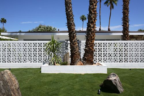 Besser Block Wall Palm Springs Newly Landscaped Yard