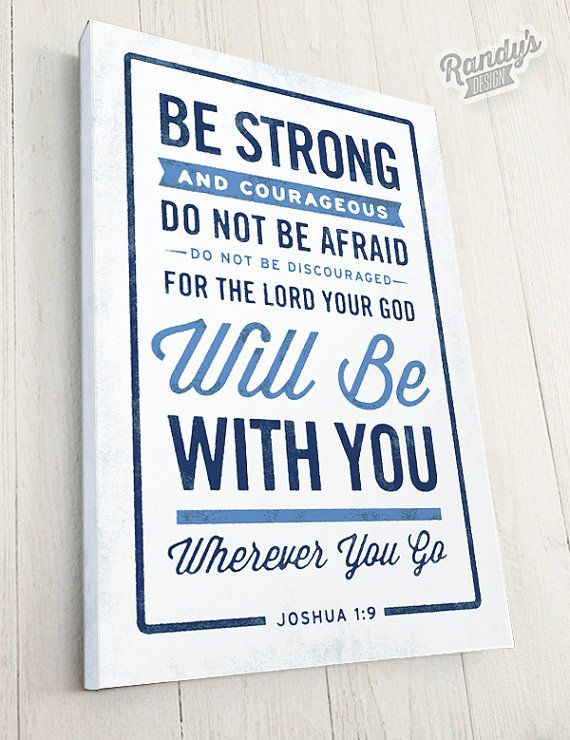 Bible Verse on Canvas, Christian Art, Rustic Vintage Style, Bible Verse Wall Decor, Joshua 1:9 on Etsy, $49.00