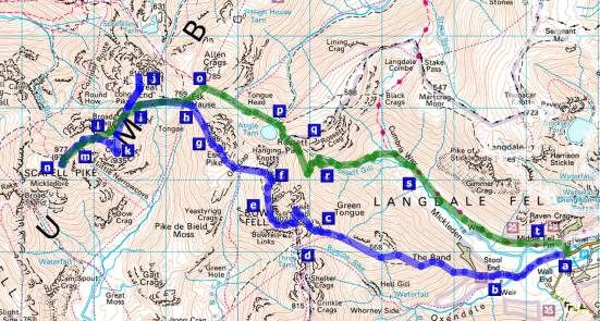 Scafell Pike route from Dungeon Ghyll