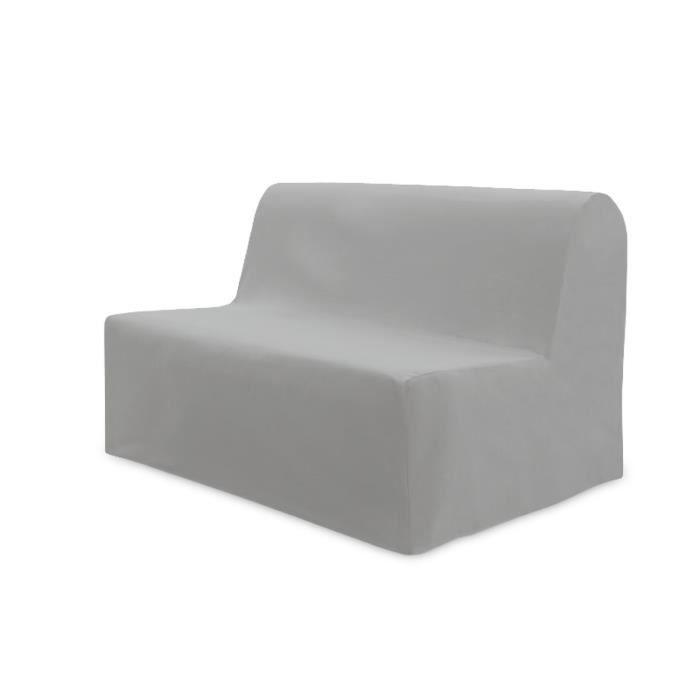 SOLEIL D'OCRE Housse BZ Panama 140x204 cm gris clair - Achat / Vente housse de canape - Cdiscount
