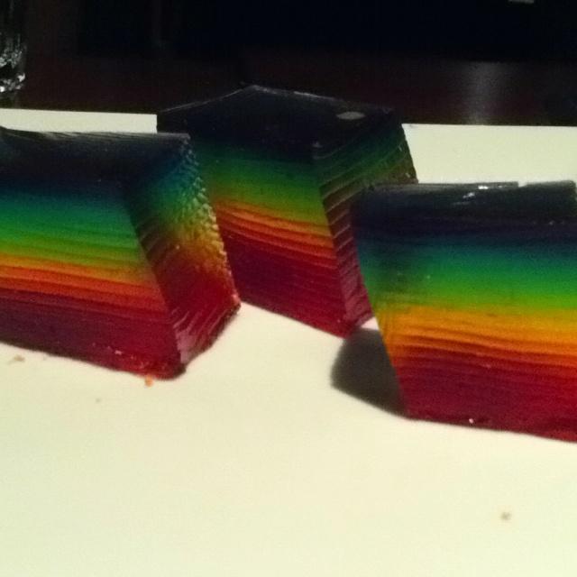 ... double rainbow shots double rainbow cake jelly shot double rainbow