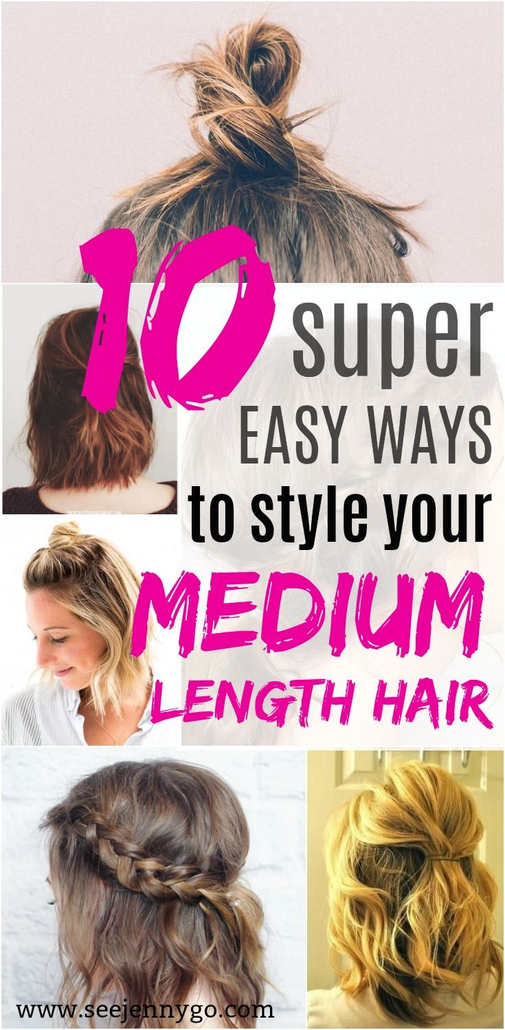 Looking for ways to style your medium length hair? Try these 10 easy hair tutorials!