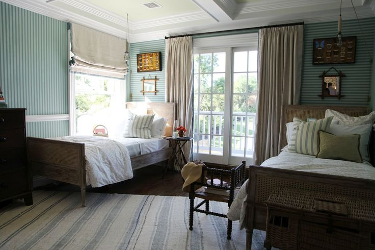 boys room inspiration: Interior Design, Guest Room, Guest Bedroom, Boy Rooms, Twin Beds, Roman Shades, Boys Room