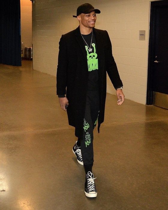 Shop Russell Westbrook's Converse sneakers. #mensfashion#menswear#menstyle#mensstyle#menfashion#menwithstyle#guyswithstyle#fashionformen#ootdmen#mensclothing#fashionmen#manstyle#styleformen#malefashion#menwear#fashionman#menslook#mensweardaily#highfashionmen#stylishmen#stylemen#menstreetstyle#mensoutfit#malestyle