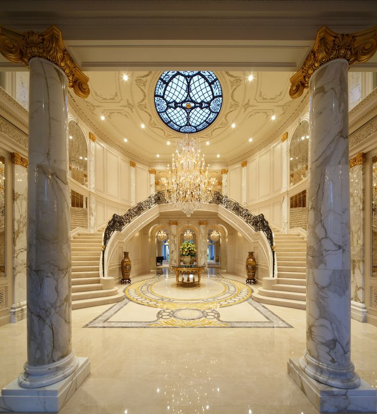 Grand Foyer Double Staircase : This website is currently unavailable on pinterest
