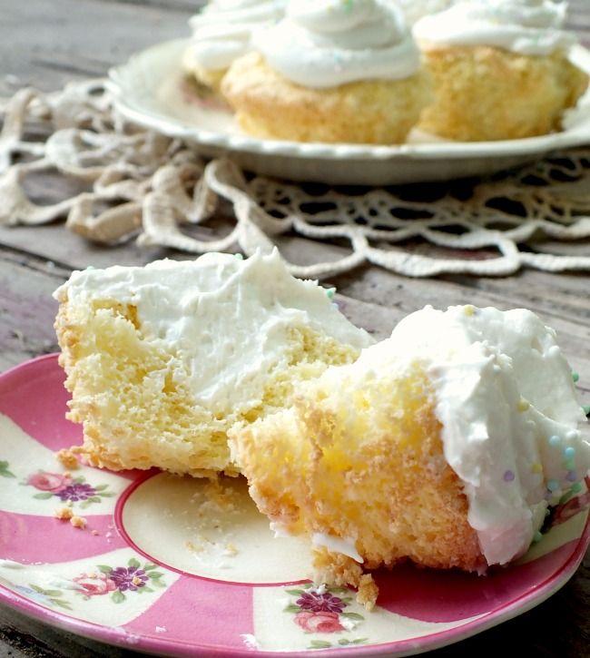 Copycat Twinkie Cupcakes..with homemade sponge cake!!!