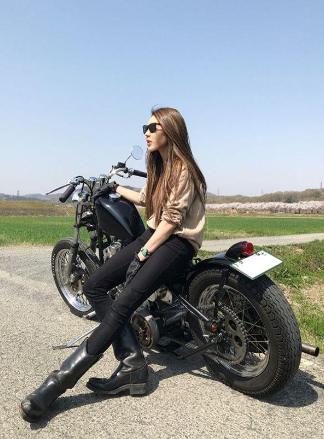 Hardcore biker black girls