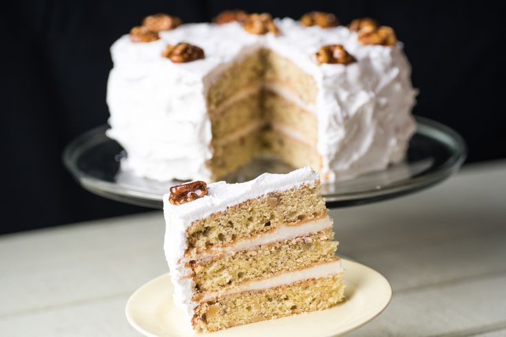"Frosted Walnut Layer Cake // This recipe is the first technical challenge of third season of ""The Great British Baking Show"" on PBS, known as ""The Great British Bake Off"" across the pond on the BBC."