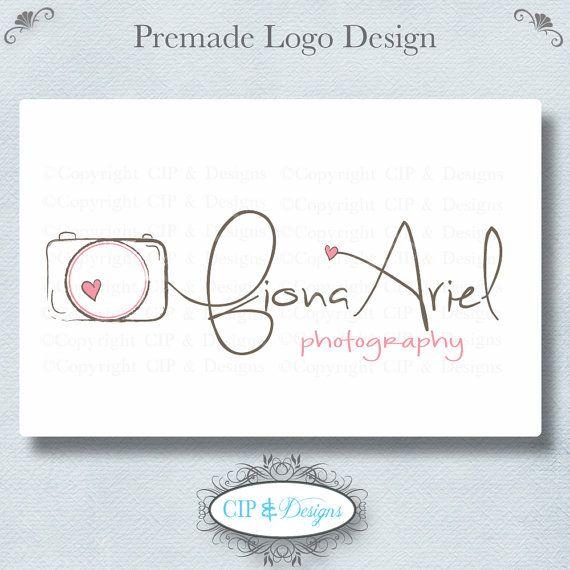 Premade Logo and Watermark...Pre made logo design...Premade Photography Logo via Etsy
